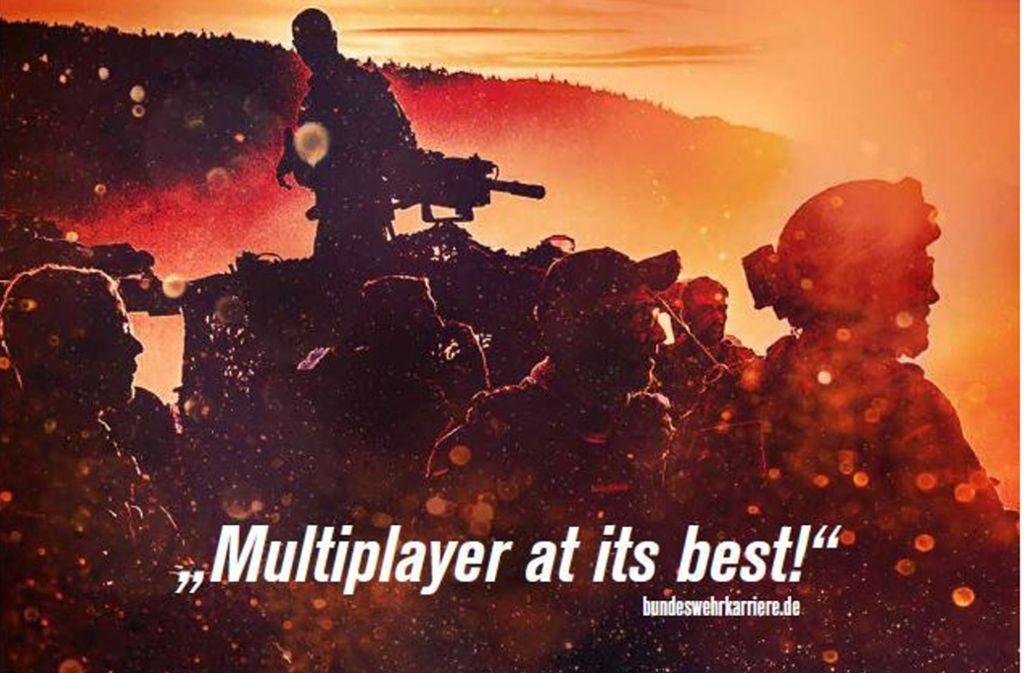 Ausschnitt aus der Plakatkampagne der Bundeswehr auf der Gamescom. Foto: Bundeswehr