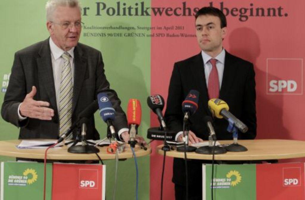 Die Grünen und die SPD erzielen eine erste Einigung in den Koalitionsverhandlungen. Foto: dapd
