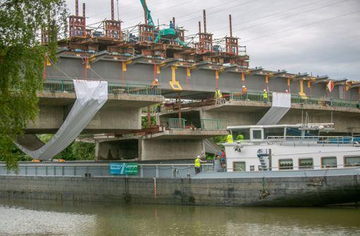 Abbruch der Schleyerbrücke geht in letzte Phase