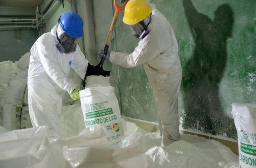Widerstand gegen Ausbeute von Lithium