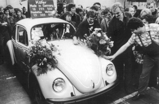 Der letzte VW-Käfer rollt 1978 in Ostfriesland vom Band