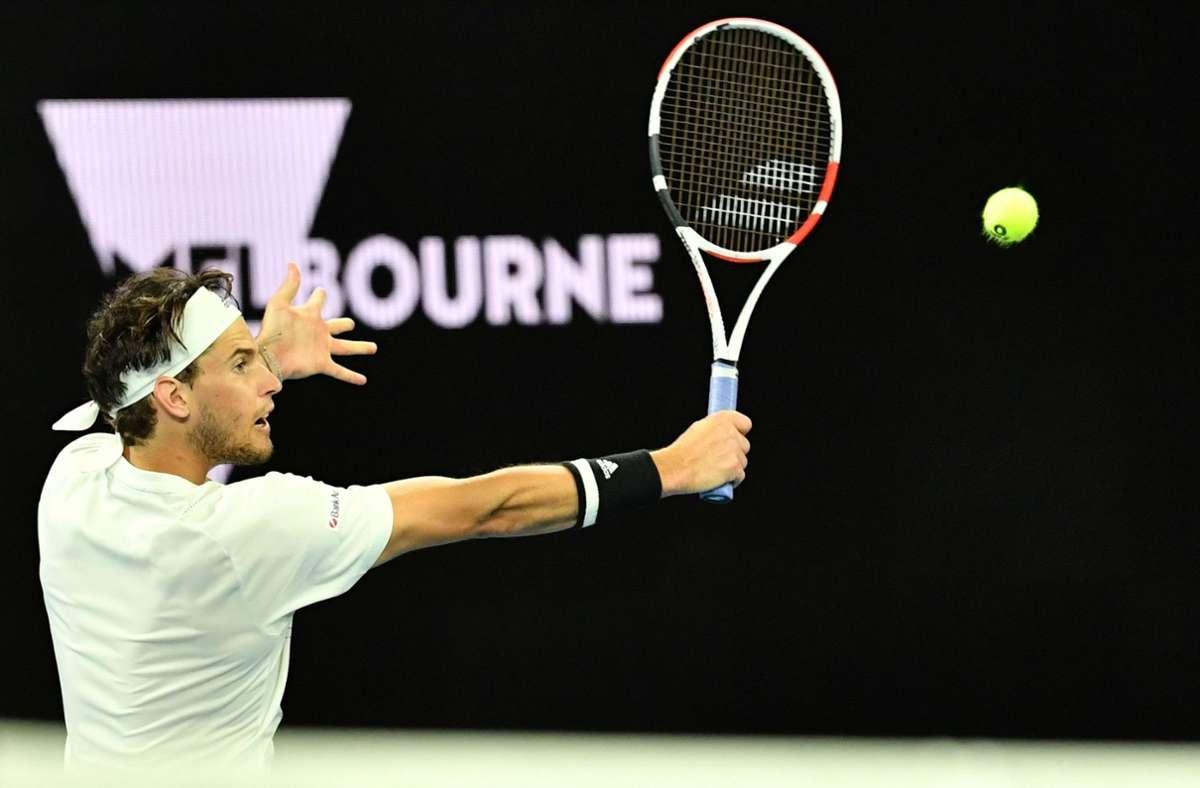 Dominic Thiem steht bei den Australian Open im Achtelfinale. Foto: AFP/PAUL CROCK
