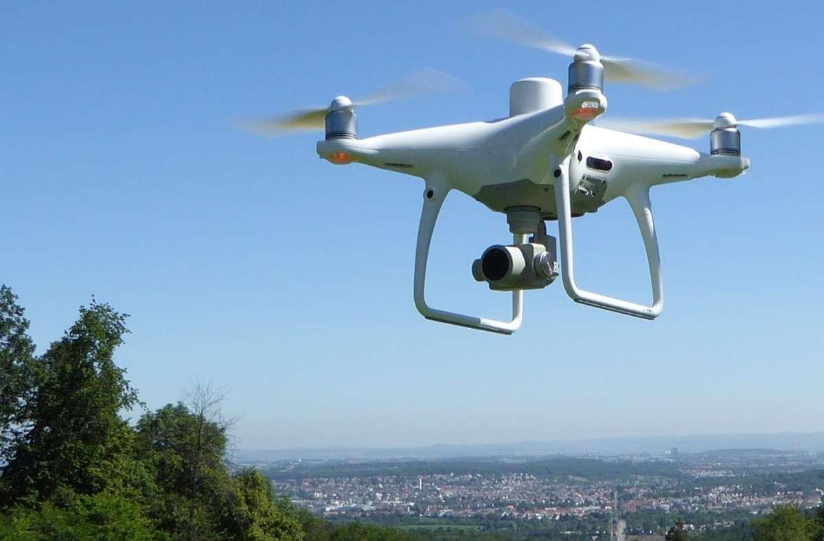 Die Drohne wird zu Vermessungs- und Visualisierungszwecken genutzt. Foto: Stadtmessungsamt Stuttgart (z)