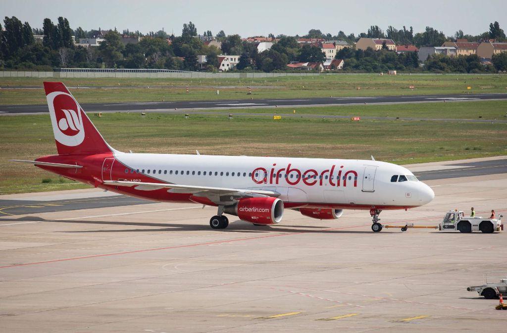 Die Fluglinie Air Berlin ist noch immer in Turbulenzen. Foto: AFP