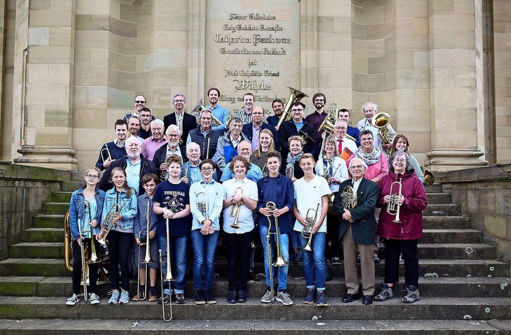 Ein starkes Team mit seinen  Blechinstrumenten: Der CVJM-Posaunenchor Untertürkheim feiert  Jubiläum. Foto: