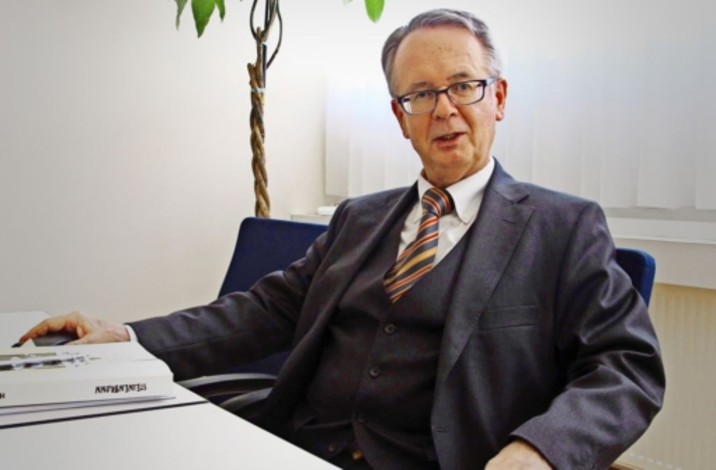 Für Steinenbronns Bürgermeister Johann Singer geht ein bewegtes Jahr zu Ende. Die Brandschutzsanierung der Schule ist abgeschlossen. Foto: Malte Klein