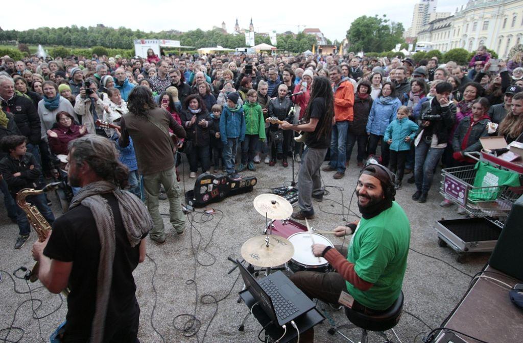 Beste Laune bei Musikern und Publikum: Das Straßenmusikfest im Blüba. Foto: Factum/Granville
