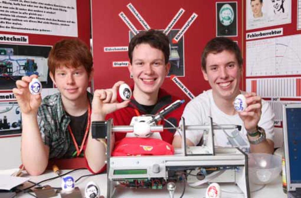 Erfindergeist: Jan Philip Dolt, Bernhard Petzold und Andreas Garhofer(von links). Foto: Buhl