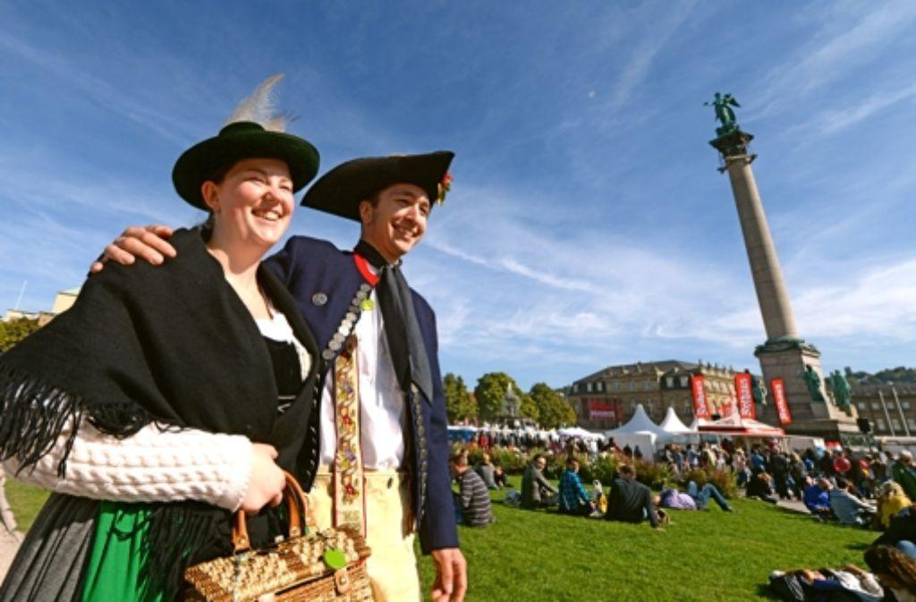 Der Tag der Deutschen Einheit 2013 wurde in Stuttgart gefeiert. Foto: dpa