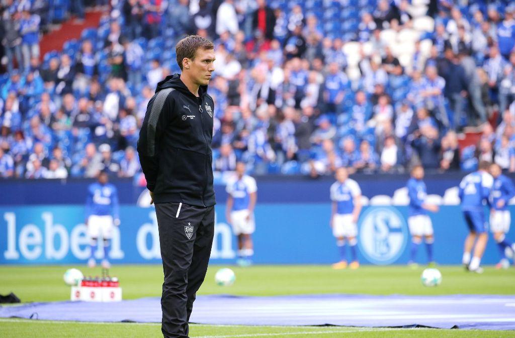 Hannes Wolf hofft beim VfB Stuttgart noch auf einige angeschlagene Spieler für die Partie gegen den VfL Wolfsburg. Foto: Pressefoto Baumann