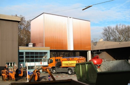 So sieht das neue Salzsilo in der Heinrich-Baumann-Straße am Stöckach aus. Foto: Stadt
