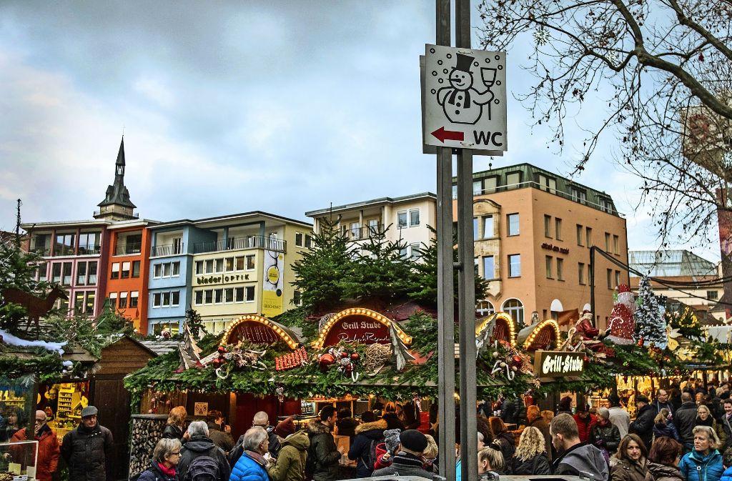 So freudig wie  hier werden Weihnachtsmarkt-Gäste mit einem dringenden Bedürfnis nicht überall begrüßt. Foto: Lichtgut/Max Kovalenko