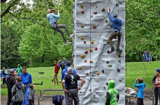 Beim Klettern ist Teamwork gefragt