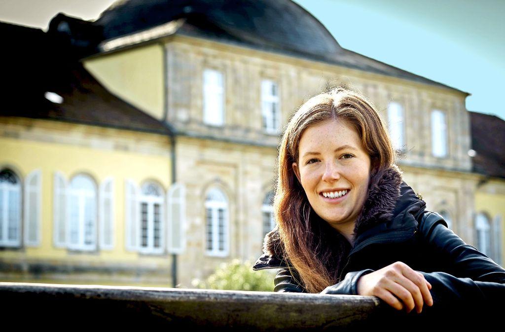Nora Kretzschmar studiert Agrarwissenschaften an der Uni Hohenheim und ist mit 21 bereits im siebten Semester. Foto: Lichtgut/Achim Zweygarth
