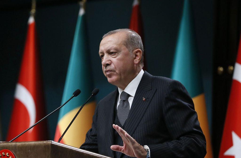 Erdogan hat sich bei der Frage um den Leitzins offenbar nicht durchsetzen können. Foto: Presidency Press Service