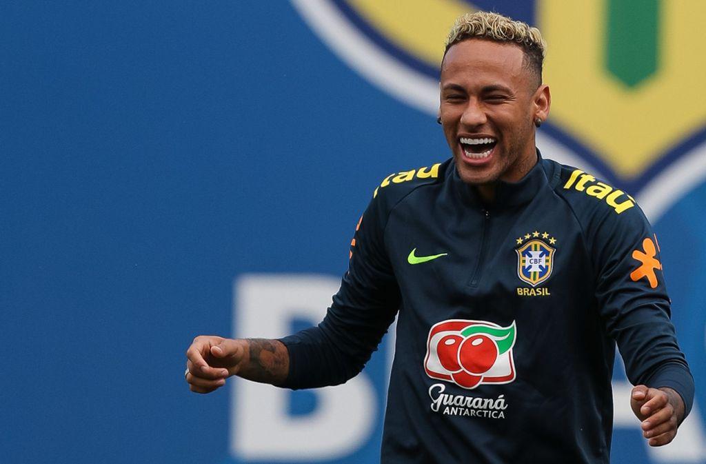 Brasiliens Superstar Neymar kann bei der WM 2018 wieder lachen. Foto: Getty Images Europe