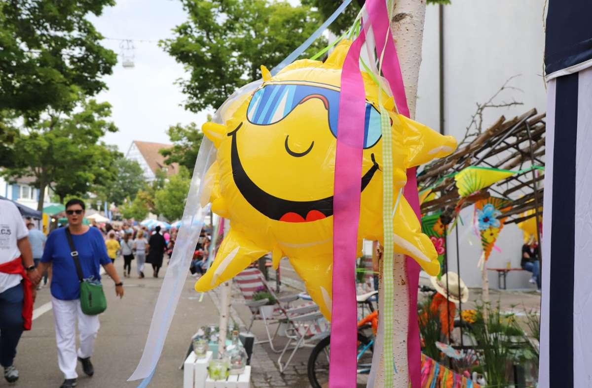 Die Sonne lacht beim Schmidener Sommer. Foto: Patricia Sigerist