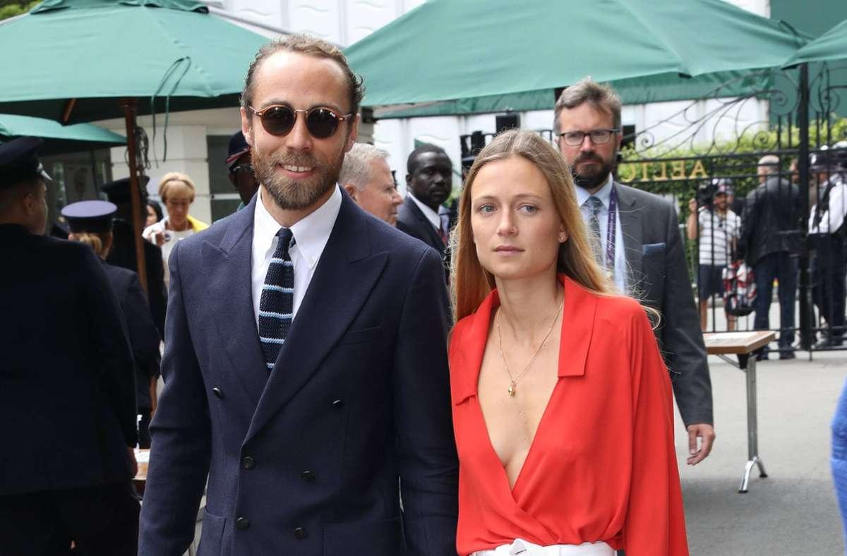 James Middleton und Alizee Thevenet im Jahr 2019 in Wimbledon. Foto: imago images / i Images/Stephen Lock