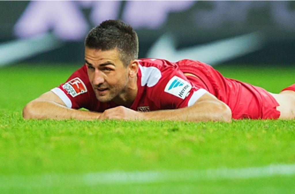 Vedad Ibisevic ist beim VfB ganz unten und hat keine Perspektive mehr. In der Bildergalerie geben wir einen Überblick über die Stürmer, die beim VfB unter Vertrag sind. Foto: dpa