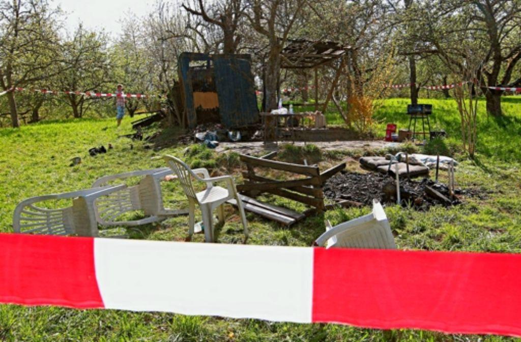 Der Brandanschlag auf diese Gartenhütte wird erneut verhandelt. Foto: dpa/Archiv