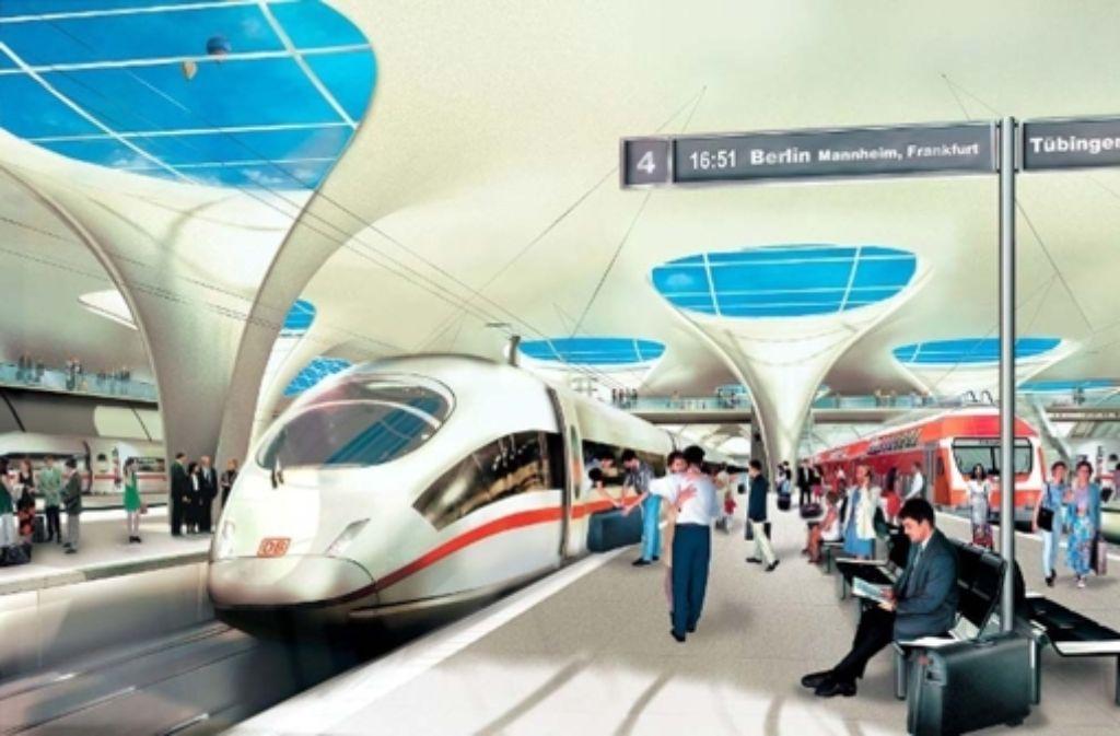 Bei der Debatte um die Übernahme von Mehrkosten bei Stuttgart 21 empfiehlt der Bahn-Aufsichtsrat offenbar eine Klage g Foto: DB AG/NEXT EDIT