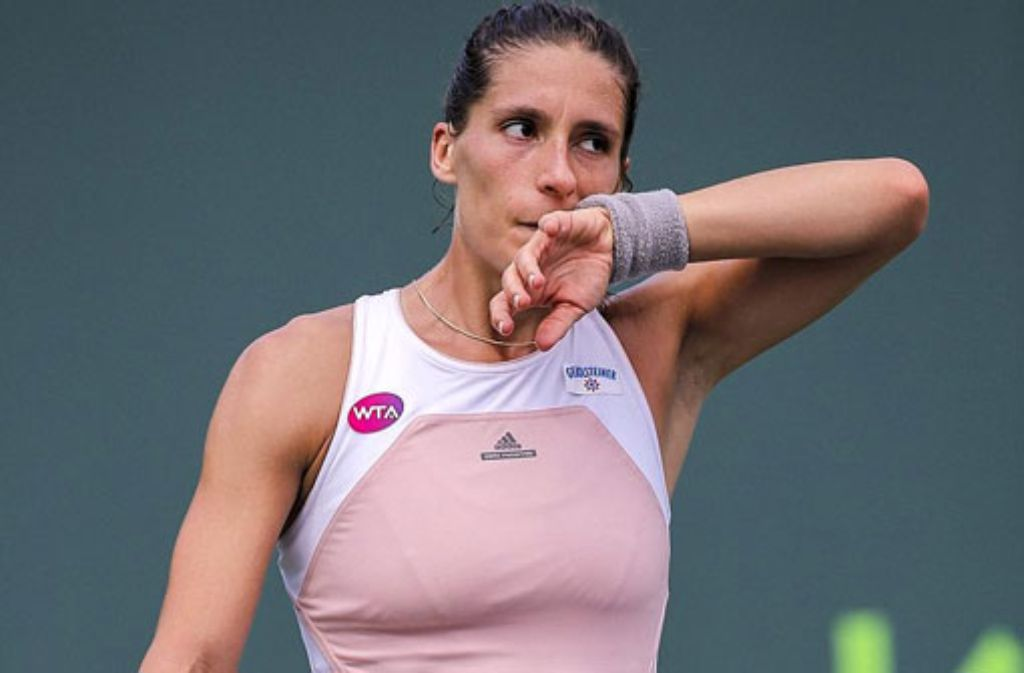 Andrea Petkovic unterlag im Halbfinale von Miami Carla Suarez Navarro überraschend deutlich. Foto: dpa
