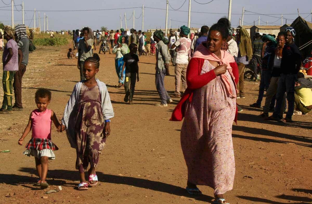 Flüchtlinge aus der umkämpften Region Tigray (Archivbild) Foto: AFP/ASHRAF SHAZLY