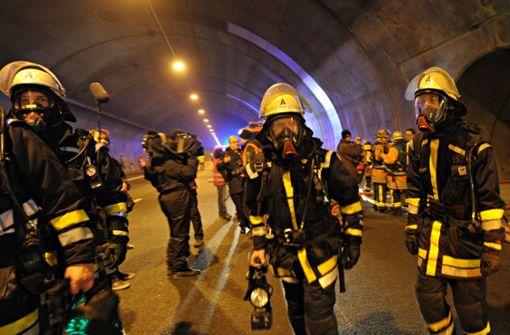 Großübung im Engelbergtunnel