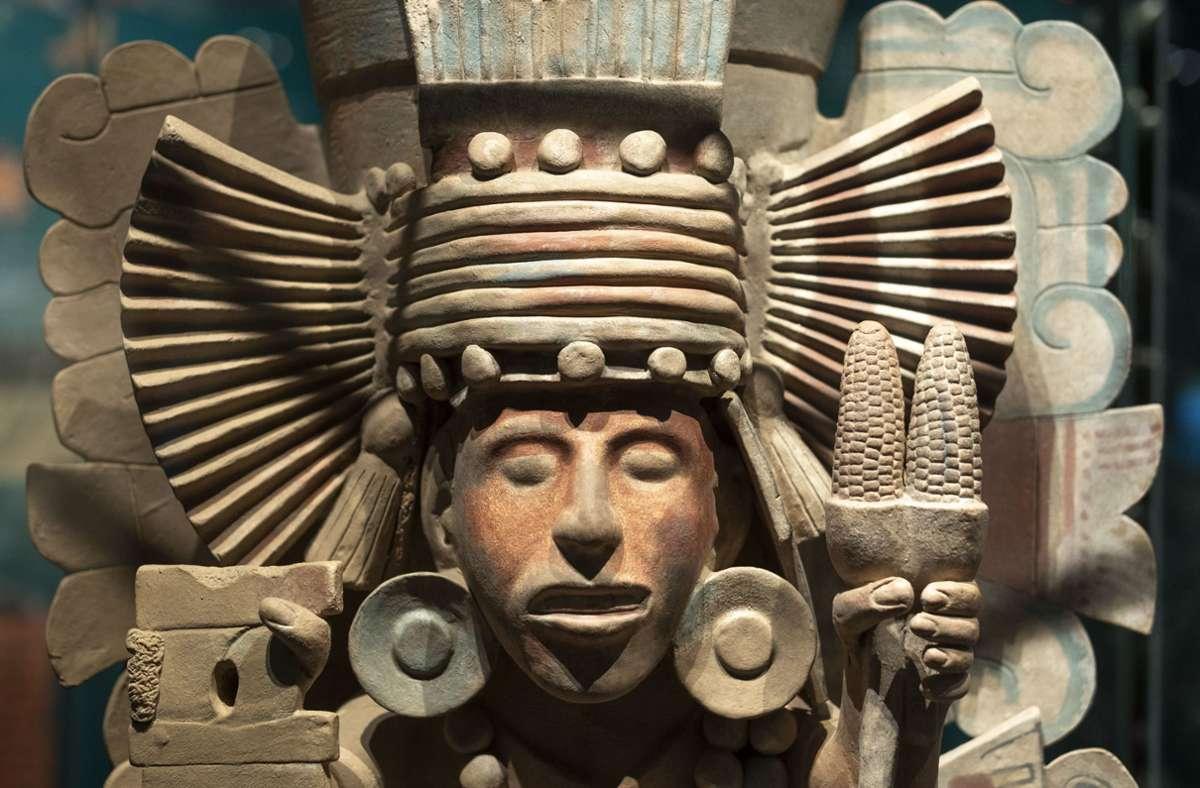Ein Exponat der Azteken-Ausstellung, die derzeit im Stuttgarter Linden-Museum zu sehen ist Foto: /Lichtgut/Leif Piechowski