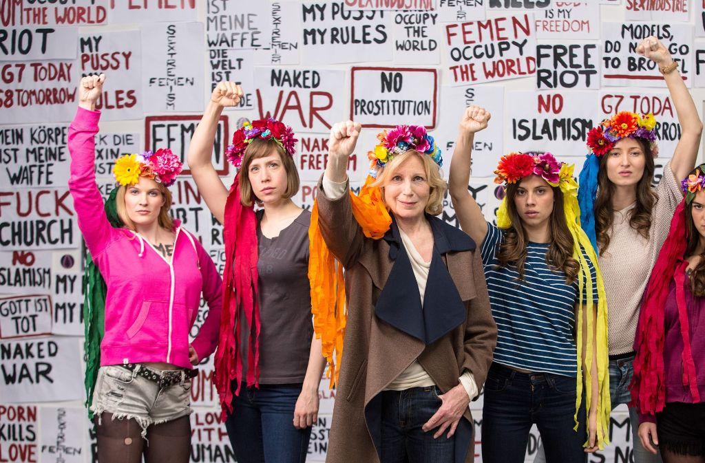 Maren Kroymann als Femen-Aktivistin Foto: Radio Bremen