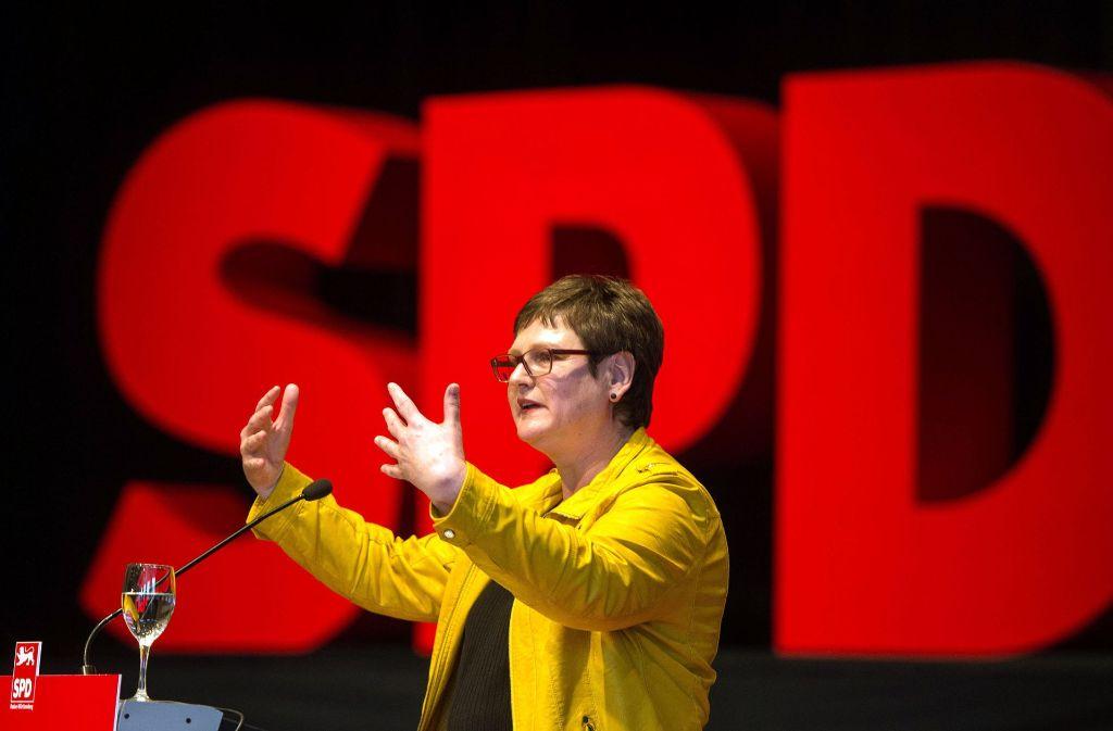 Auf die SPD-Landesvorsitzende Leni Breymaier kommen große Herausforderungen zu – es gibt erhebliche Meinungsunterschiede im Landesverband über die künftige Ausrichtung. Foto: dpa