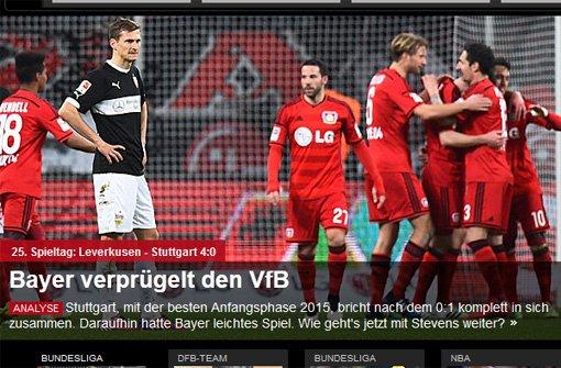 Bayer verprügelt den VfB