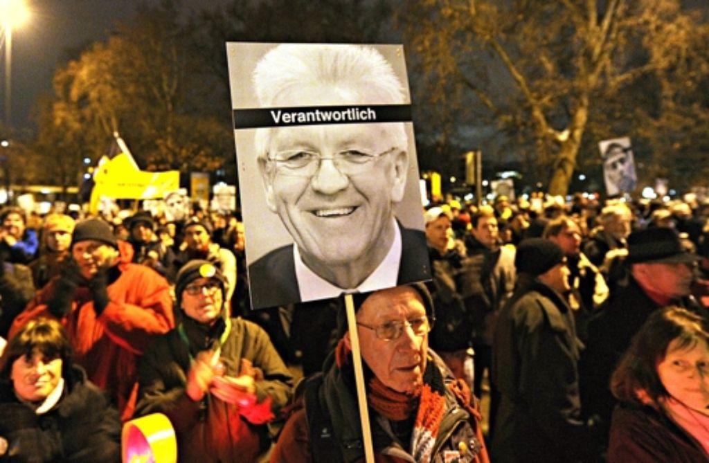 Winfried Kretschmann ist bei den Stuttgart 21-Gegnern deutlich in die Kritik geraten. Foto: dpa