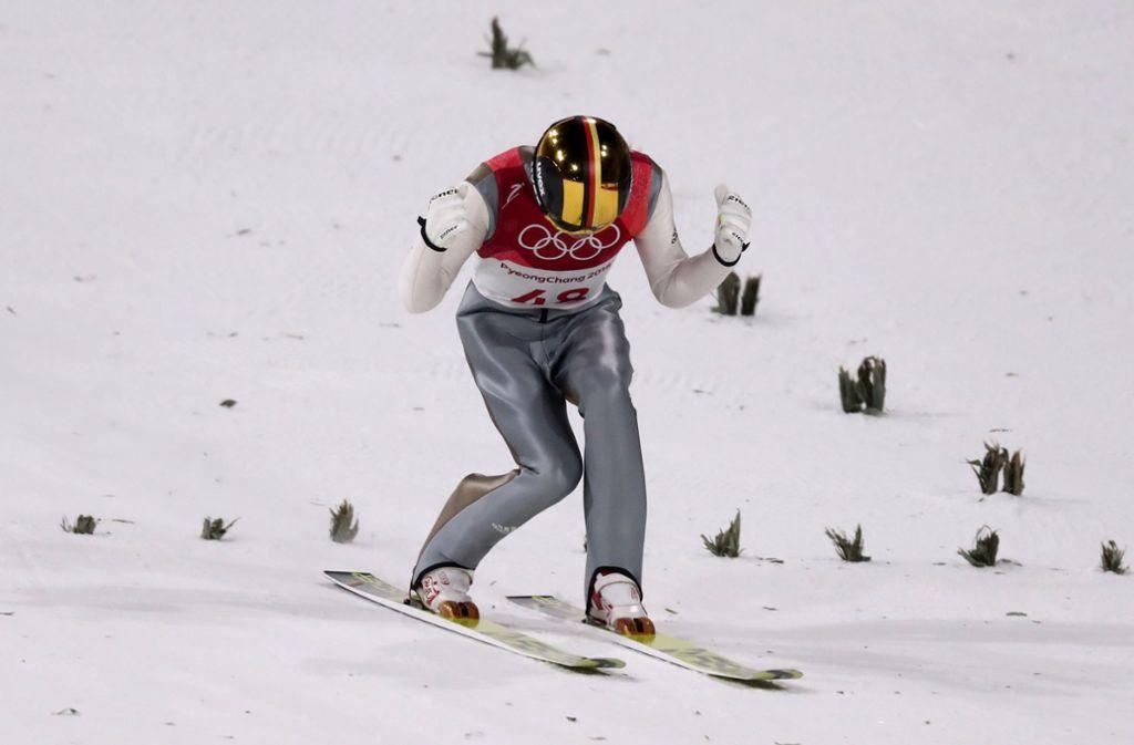 Der Skispringer Andreas Wellinger hat Silber gewonnen. Foto: Getty Images AsiaPac
