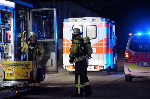 Zwei Männer bei Brand verletzt