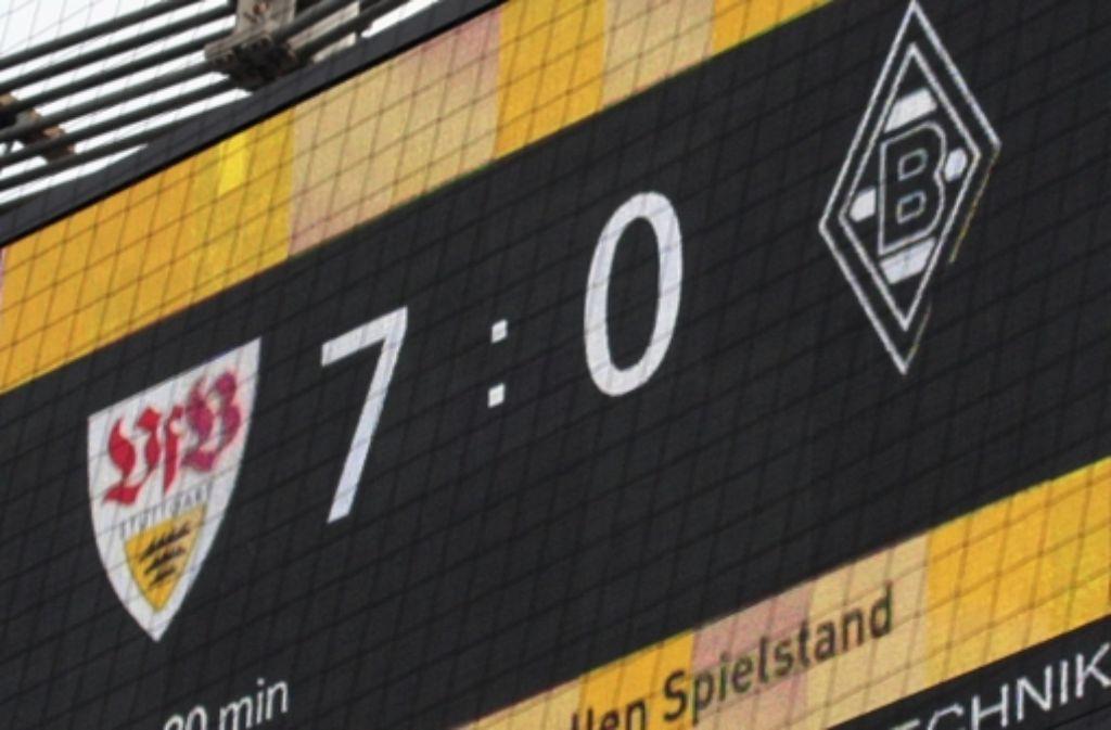 Nach oben offen: der letzte hohe VfB-Sieg gegen Gladbach gelang 2010. Foto: Baumann