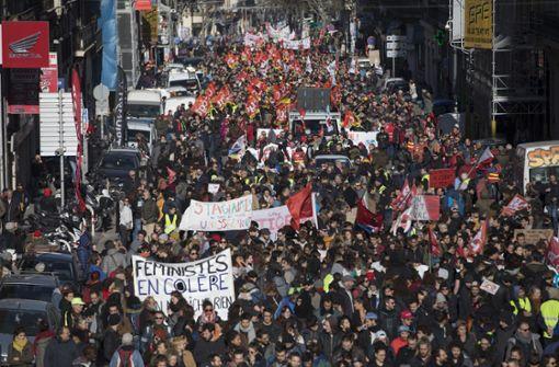 Kein Ende der Proteste gegen Rentenreform in Sicht