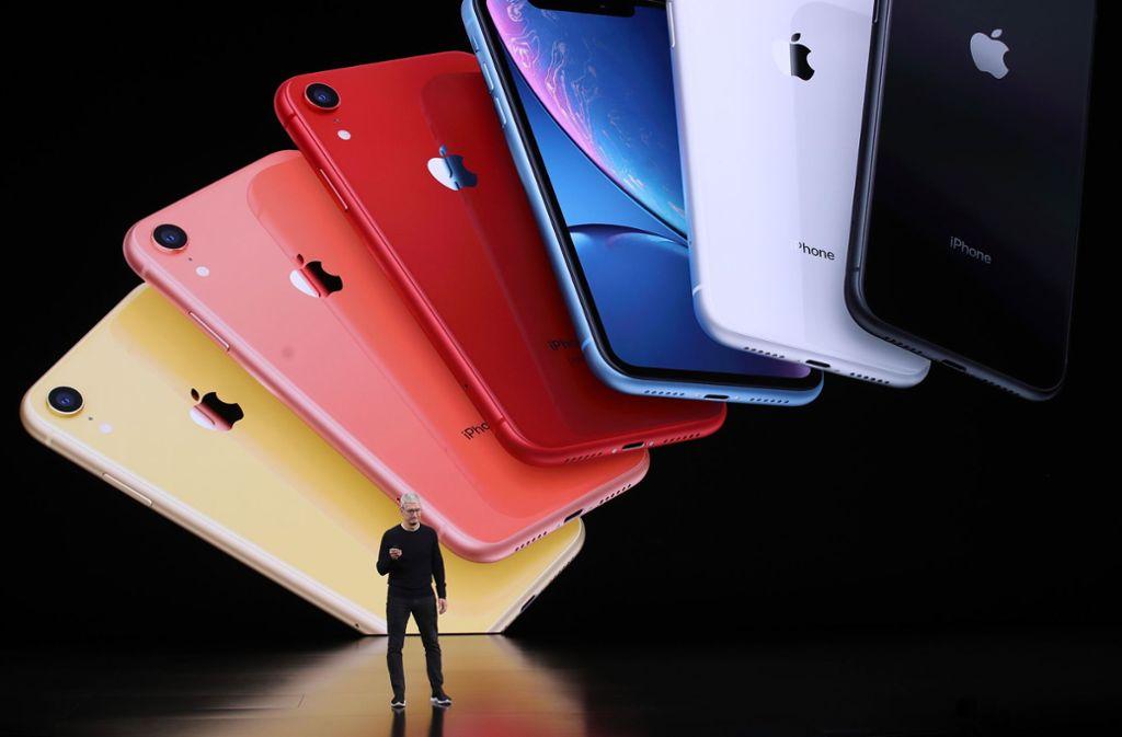 Das iPhone 11, das am Dienstag vorgestellt wurde, hat drei Kameras. Foto: AFP/JUSTIN SULLIVAN