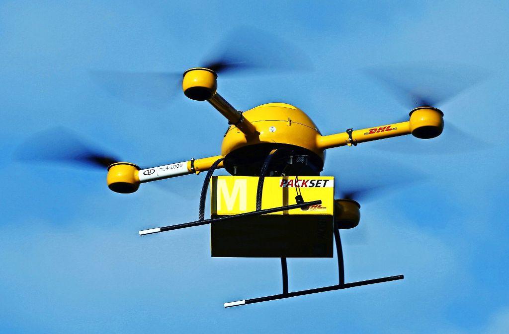 Die Deutsche Post testet Drohnen bei der Auslieferung von Paketen. Foto: dpa