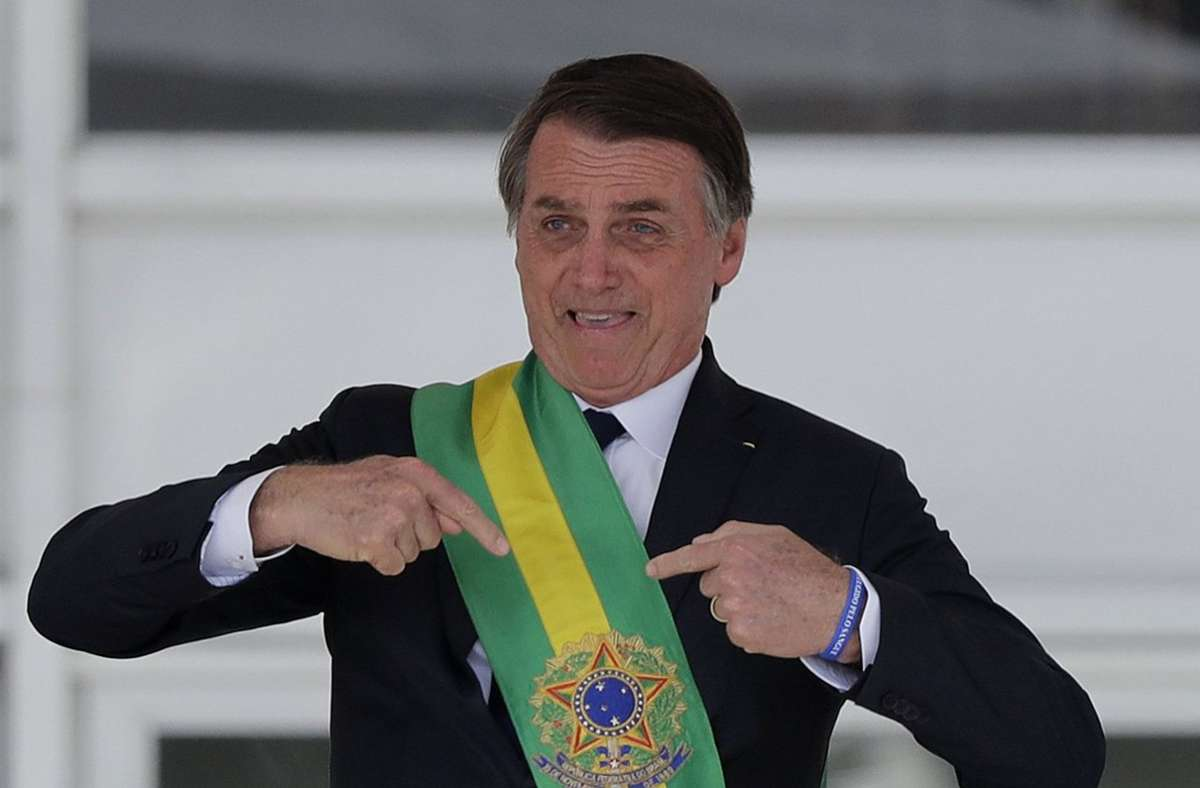 Der brasilianische Präsident Jair Bolsonaro. (Archivbild) Foto: dpa/Silvia Izquierdo