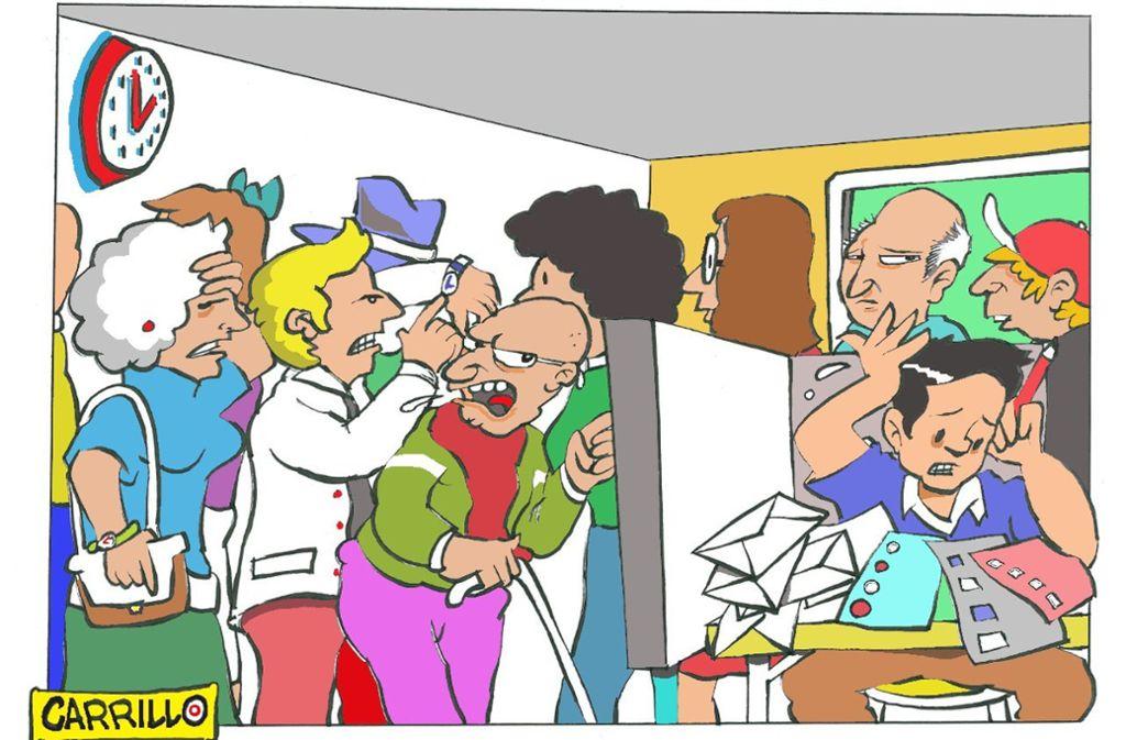 So sieht unser Karikaturist Carrillo den Wahlsonntag. Foto: Carillo