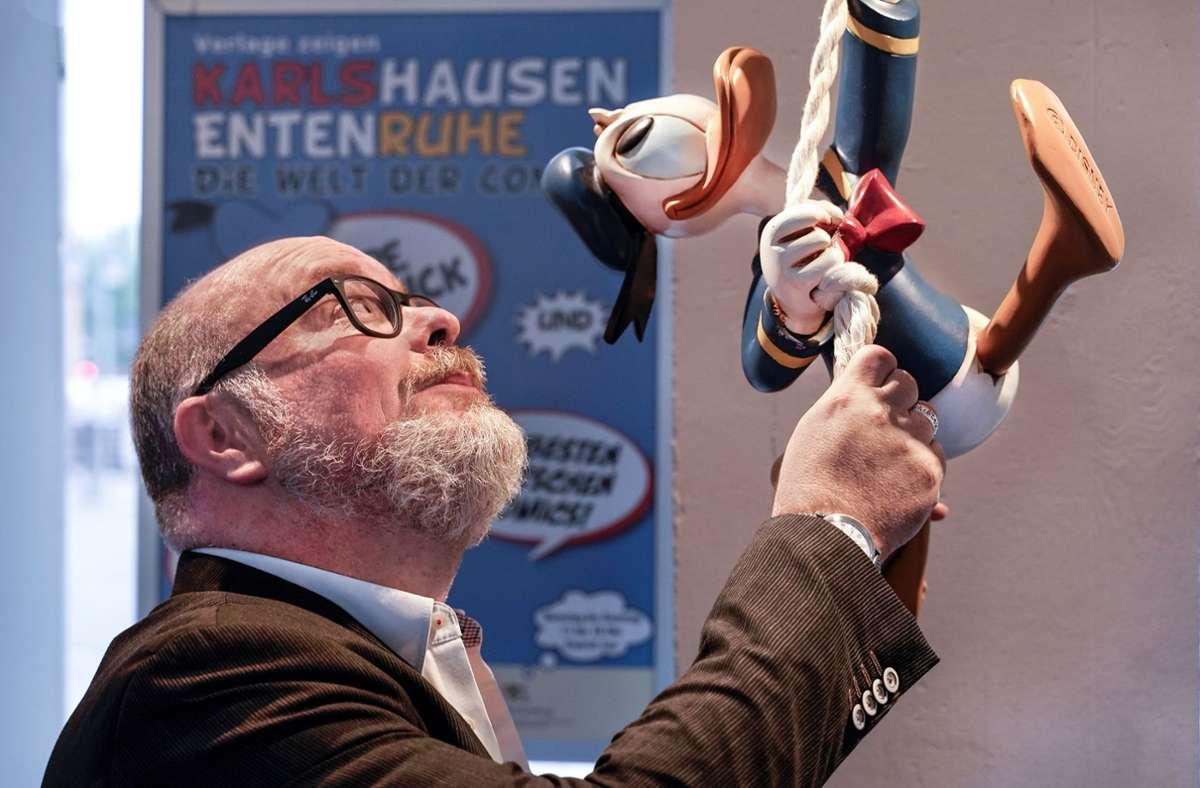 Den Grundstein für seine Sammel-Leidenschaft legte Martin Wacker vor rund drei Jahrzehnten auf dem Camden-Flohmarkt in London. Foto: Jürgen Schurr