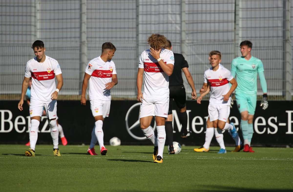 Der VfB-Stuttgart II musste sich am Mittwoch der SG Sonnenhof Großaspach im Viertelfinale des WFV-Pokals mit 0:1 geschlagen geben. Foto: Pressefoto Baumann