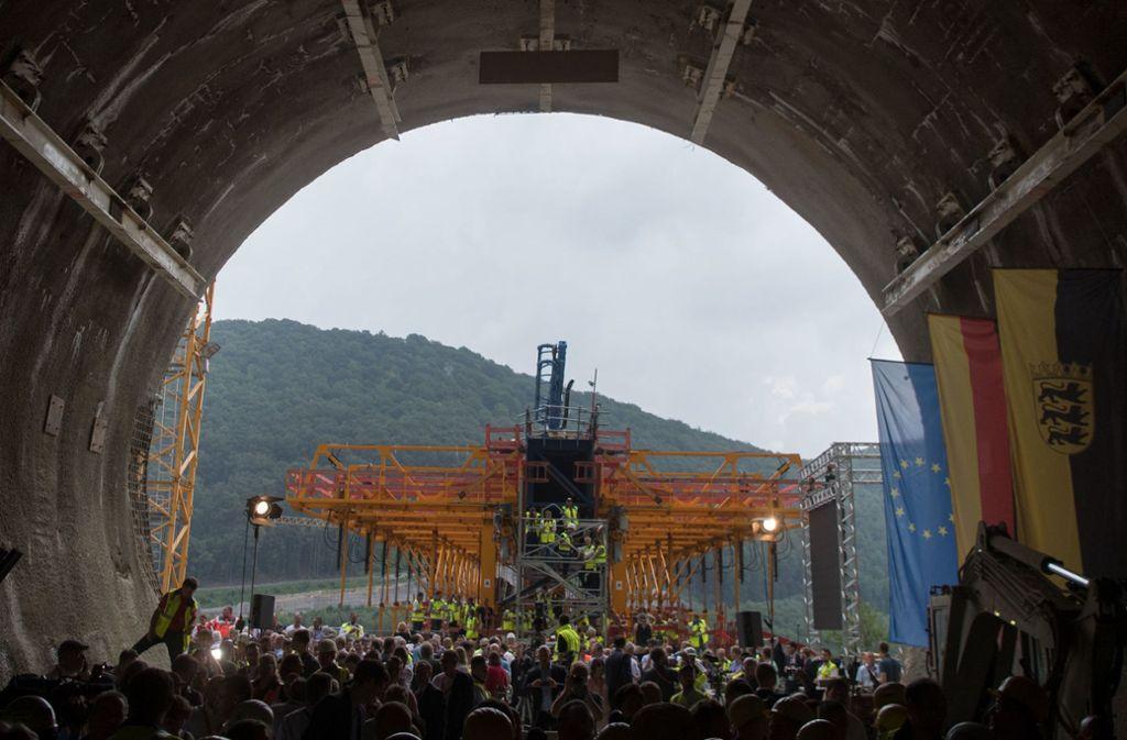 Große Infrastrukturprojekte wie die Schnellbahnstrecke Stuttgart-Ulm (hier der Boßlertunnel bei Mühlhausen) sollen nach Vorstellung der Großen Koalition künftig schneller geplant werden. Foto: dpa