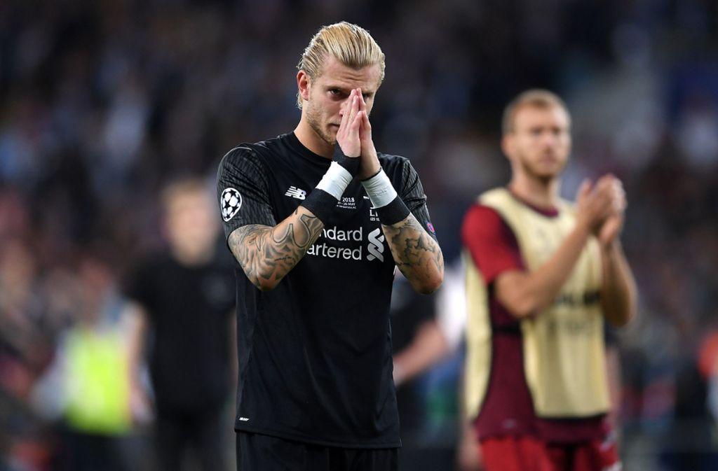 Liverpools Keeper Loris Karius mit seiner wohl schlimmsten Niederlage seiner Karriere. Foto: Getty Images Europe