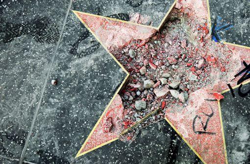 Hollywood-Stern von Trump zertrümmert