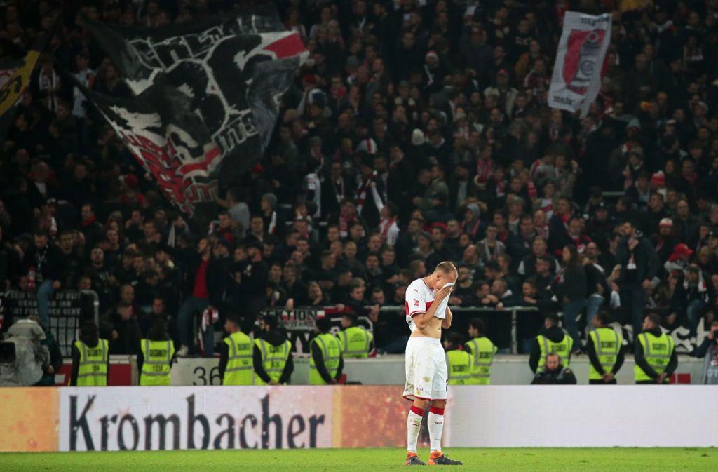 Holger Badstuber und der VfB Stuttgart haben mit 0:3 gegen Eintracht Frankfurt verloren. Foto: Pressefoto Baumann