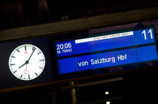 Weiterhin keine Züge zwischen Salzburg und München