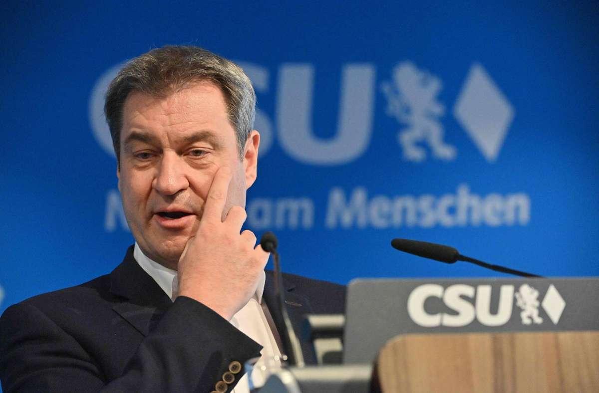 Markus Söder hat über die Grünen gelästert. (Archivbild) Foto: AFP/PETER KNEFFEL