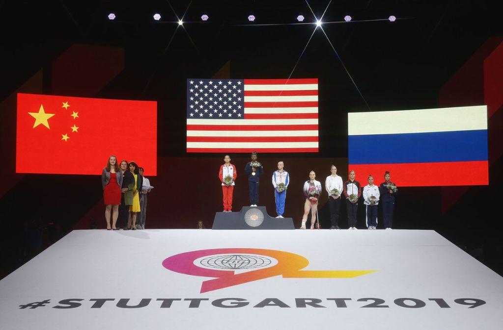 China, die USA und Russland sind nicht nur im Turnen eine Macht, sie bestimmen großteils auch das Geschehen der Weltpolitik. Foto: Pressefoto Baumann/Hansjürgen Britsch